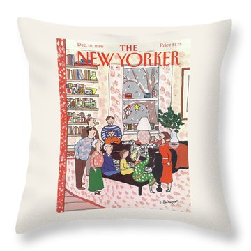 New Yorker December 10th, 1990 Throw Pillow