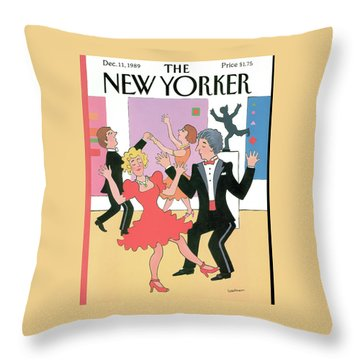 New Yorker December 11th, 1989 Throw Pillow