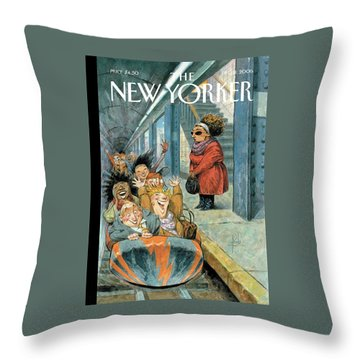 New Yorker December 11th, 2006 Throw Pillow