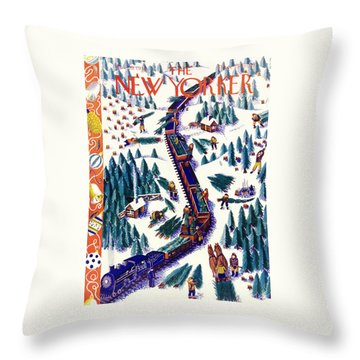 New Yorker December 12 1938 Throw Pillow