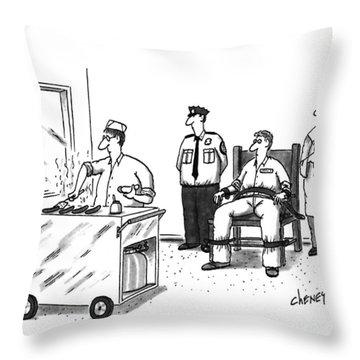 New Yorker December 12th, 1994 Throw Pillow