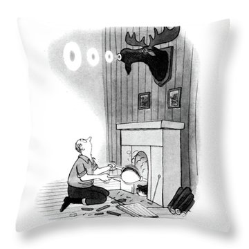 New Yorker December 13th, 1947 Throw Pillow