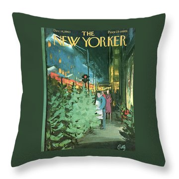 New Yorker December 14th, 1963 Throw Pillow