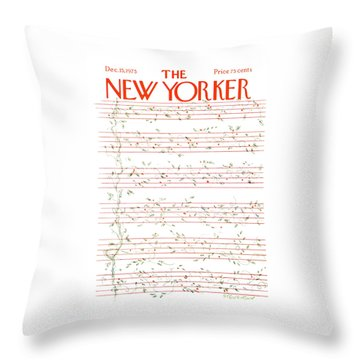 New Yorker December 15th, 1975 Throw Pillow