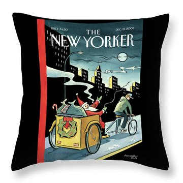 New Yorker December 15, 2008 Throw Pillow
