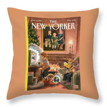 New Yorker December 16th, 1996 Throw Pillow