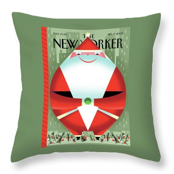 New Yorker December 17th, 2007 Throw Pillow