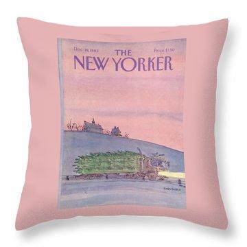 New Yorker December 19th, 1983 Throw Pillow
