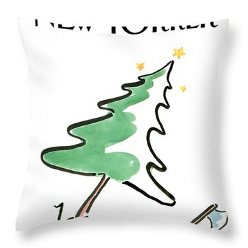 New Yorker December 19th, 1988 Throw Pillow
