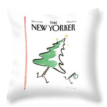 New Yorker December 19th, 1988 Throw Pillow