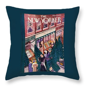 New Yorker December 21 1935 Throw Pillow