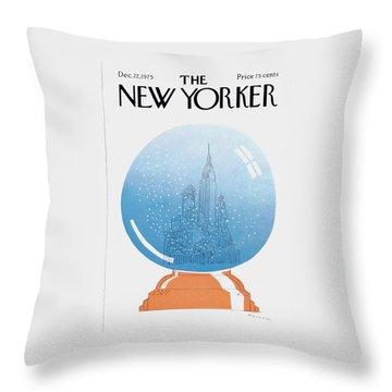 New Yorker December 22nd, 1975 Throw Pillow