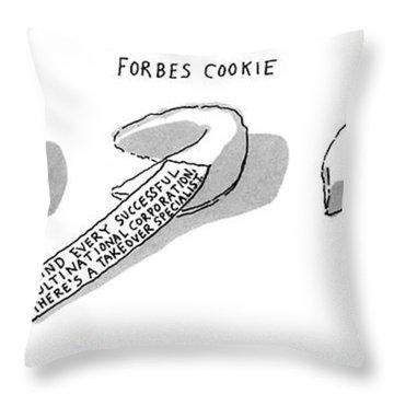 New Yorker December 23rd, 1991 Throw Pillow