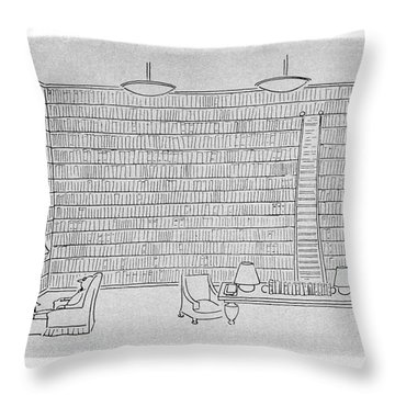 New Yorker December 25th, 1954 Throw Pillow
