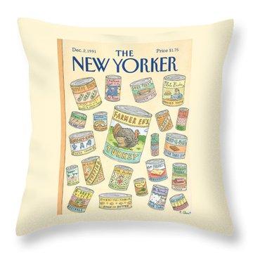 New Yorker December 2nd, 1991 Throw Pillow