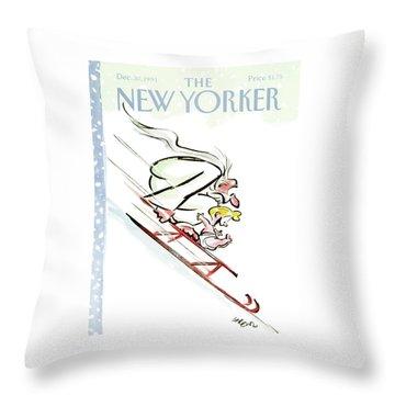 New Yorker December 30th, 1991 Throw Pillow