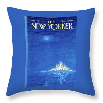 New Yorker December 3rd, 1973 Throw Pillow