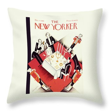 New Yorker December 4 1926 Throw Pillow