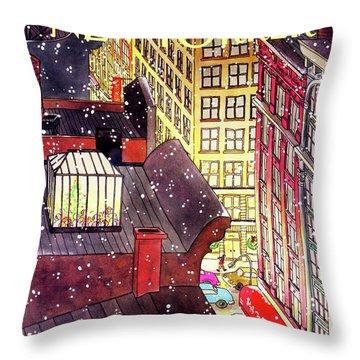 New Yorker December 7th, 1992 Throw Pillow