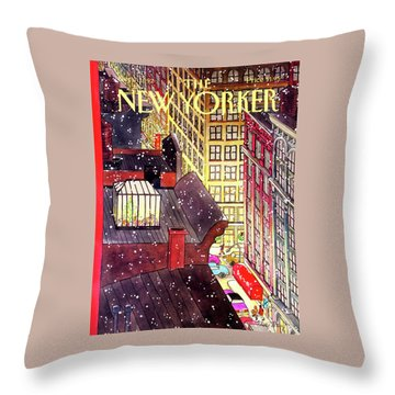 New Yorker December 7th, 1992 Throw Pillow