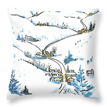 New Yorker December 8th, 1986 Throw Pillow