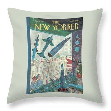 New Yorker December 9th, 1961 Throw Pillow