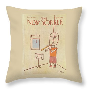 New Yorker December 9th, 1974 Throw Pillow