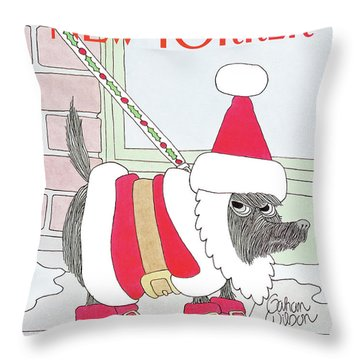 New Yorker December 9th, 1991 Throw Pillow
