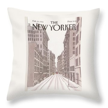 New Yorker February 10th, 1986 Throw Pillow