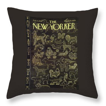 New Yorker February 12th, 1966 Throw Pillow