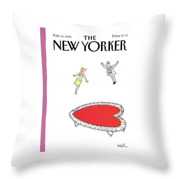 New Yorker February 12th, 1990 Throw Pillow
