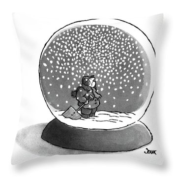New Yorker February 14th, 1977 Throw Pillow
