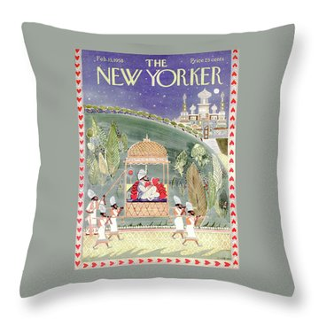 New Yorker February 15th, 1958 Throw Pillow