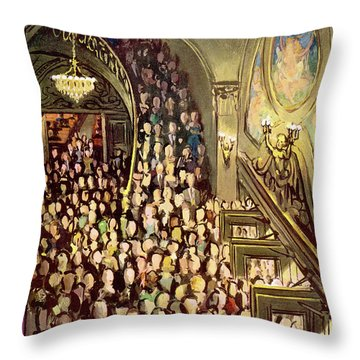 New Yorker February 16th, 1957 Throw Pillow