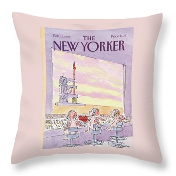 New Yorker February 17th, 1992 Throw Pillow