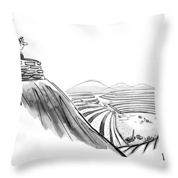 New Yorker February 19th, 1972 Throw Pillow