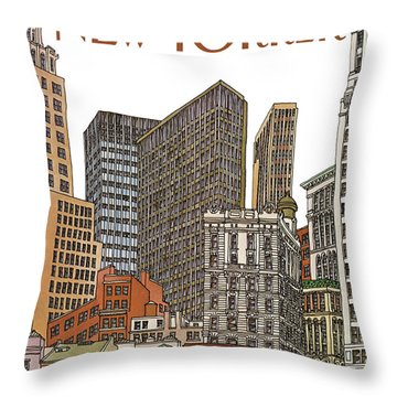 New Yorker February 1st, 1982 Throw Pillow