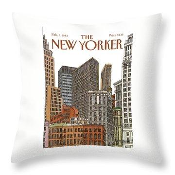 New Yorker February 1st, 1982 Throw Pillow