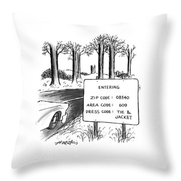 New Yorker February 1st, 1993 Throw Pillow