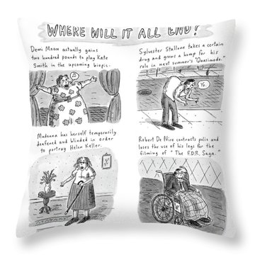 New Yorker February 23rd, 1998 Throw Pillow