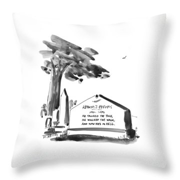 New Yorker February 24th, 1997 Throw Pillow