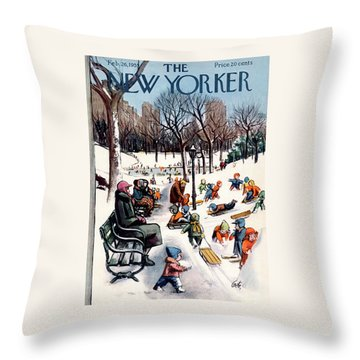 New Yorker February 26th, 1955 Throw Pillow