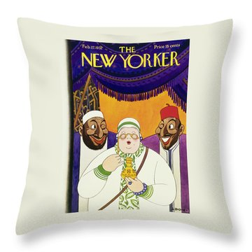 New Yorker February 27 1932 Throw Pillow