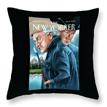 New Yorker February 27th, 2006 Throw Pillow