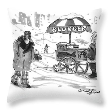 New Yorker February 28th, 1994 Throw Pillow