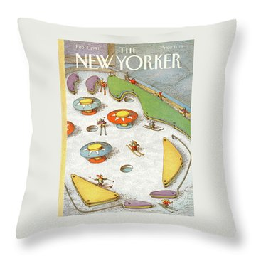 New Yorker February 4th, 1991 Throw Pillow