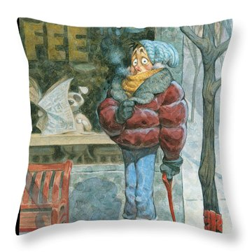 New Yorker February 5th, 2007 Throw Pillow