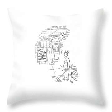New Yorker February 8th, 1941 Throw Pillow