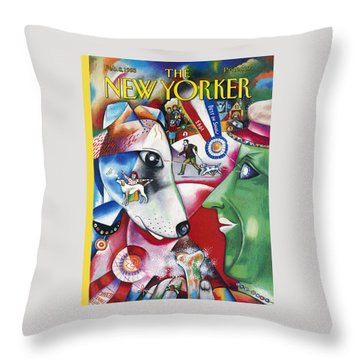 New Yorker February 8th, 1993 Throw Pillow