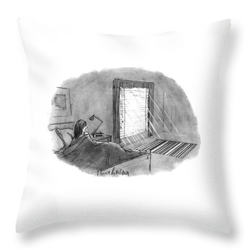 New Yorker January 10th, 1994 Throw Pillow